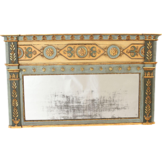 Continental painted neo classical mirror