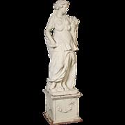 Terra cotta garden statue