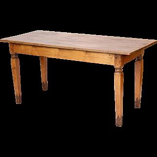 Antique directoire style farm table