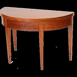 Edwardian demi lune games table