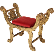 Rrenaissance style gilt wood bench