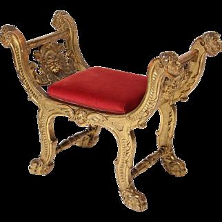 Rrenaissance style gilt wood bench