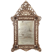 Middle Eastern inlaid mirror
