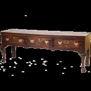 George II oak sideboard