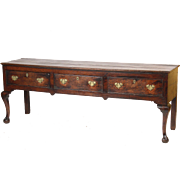 George II oak sideboard