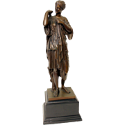 Barbidenne foundry bronze of a classical lady.