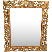 Baroque style gilt wood mirror