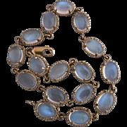 Vintage 10k Gold Glowing Moonstone Bracelet Hallmarked