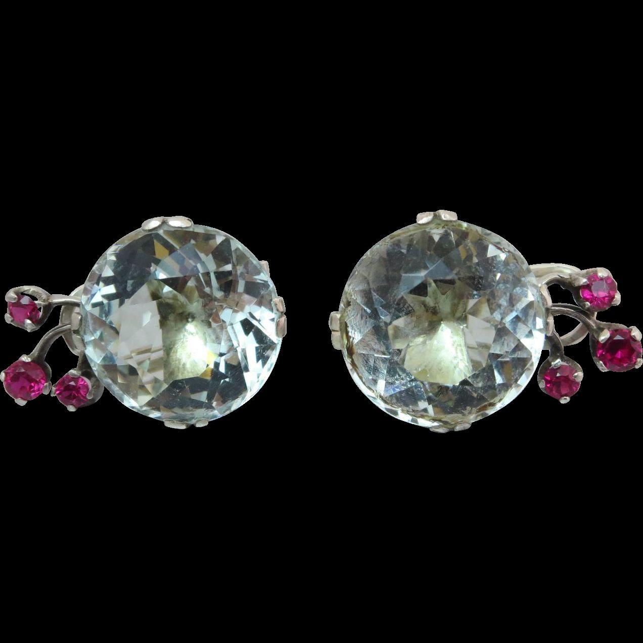 antique 41 carats aquamarine gemstone sterling silver