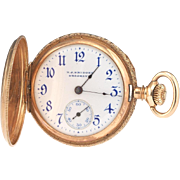 Antique Edwardian 14k Gold HJ Birder Hunter Case Pocket Watch Hallmarked and Dated