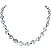 Antique Georgian Paste Crystal Riviera Closed Back Necklace