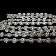 Antique Victorian Silver Paste Crystal Open Back Bezel Set Necklace