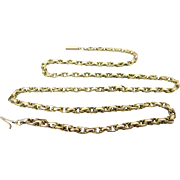 Antique Hallmarked 9k Gold Belcher Chain Necklace