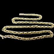 Antique Hallmarked 9k Gold Belcher Chain Necklace