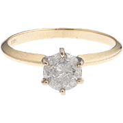 14k Gold 1.01 Carat Diamond Solitaire Ring