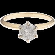 14k Gold 1.01 Carat Diamond Solitaire Ring