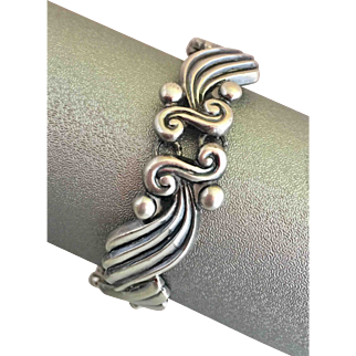 Sterling Silver Margot De Taxcoo Mexican Mexican Detailed Bracelet
