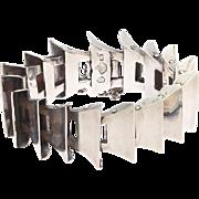 Antonio Pineda Mexican Taxco 925 Sterling Silver Modernist Bracelet