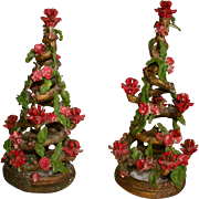 1960's NYC Danish Modern Christmas Tree Sculptures Candelabra ~ Artist Signed