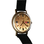Mens Lucerne Mechanical Swiss Made Calendar Watch Vintage 1960s