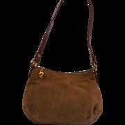Vintage New Morris Moskowitz Suede Shoulder Bag Gold Hardware Gorgeous