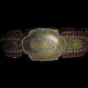 Gorgeous Vintage Moroccan Southwest Belt Hammered MIxed Metals Sz S M