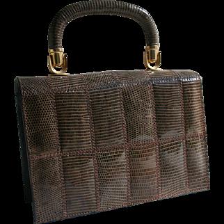 Vintage Tano Lizard Handbag with Brooklyn NYC Purse Shop Label Collector's Piece!