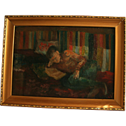 Reserved For Susan **Bela Czobel (Hungary / France 1883 - 1976) Highly Listed Fauvist Painter Original Oil Painting