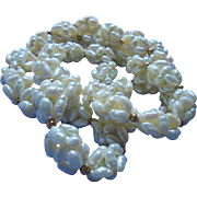 Lustrous Freshwater Pearl Clusters Necklace