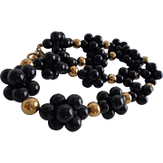 Blackberry Clusters Vintage Lucite Necklace by Anne Klein Stunning!