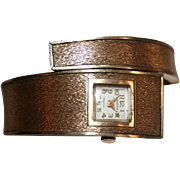 Ladies Croton Mid Century Mod Wrap Around Cuff Wrist Watch Mid Century Mod