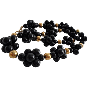 Anne Klein Blackberry Clusters Vintage Lucite Necklace Stunning!