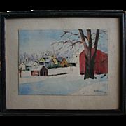 Original Grace Bilger Stansbury Renowned Kansas Artist Signed Watercolor