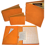 Vintage New Rudi Rabetti Leather Notebooks Never Used 4 Pc Set Journals / Scrapbooks / Albums