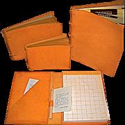 Vintage New Rudi Rabetti Leather Notebooks Never Used 4 Pc Set
