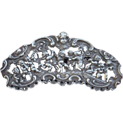 Feast of Bacchus Cherubs Scene Sterling Refief Brooch