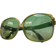 Fabulous Christian Dior Green Optyl Sunglasses Made in Germany