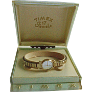 Rare Timex 17 Jewels 10K Gold Filled Ladies Watch in Presentation Case