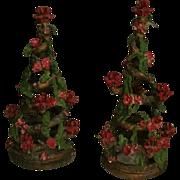 Mid Century NYC Christmas Tree Sculptures Candelabra ~ Artist Signed
