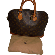 Stunning Vintage Louis Vuitton Leather Satchel Handbag with Dustbag