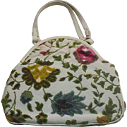 Spring Beautiful Vintage Tapestry Carpet Floral Handbag