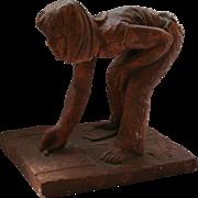 Hop Scotch Girl Sculpture Signed by Artist Degroot