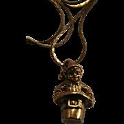 1984 Irish Leprechan Pendant Necklace by Franklin Mint