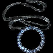 14K White Gold Genuine 26 Diamond Pendant Necklace
