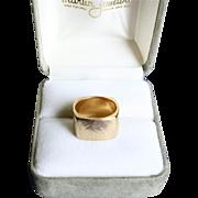 Unique Square 14K Gold Modernist Ring Size 5.5