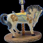 Apsit Bros of California Large Beautiful Carousel Show Horse Lamp