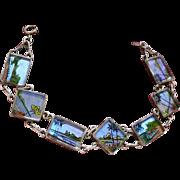 800 Silver Genuine Butterfly Wing Pictorial Bracelet