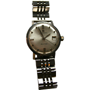 Rare 25 Rubis Automatic Blumar Radiant Wrist Watch Swiss Made Mens Stainless Band Mad Men Era
