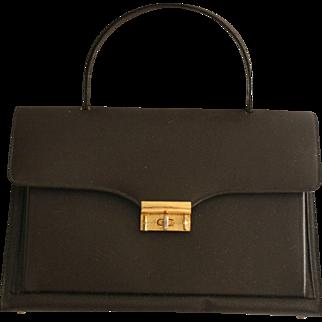Roomy Marchioness Vintage 1960s Accordion Handbag Chocalate Brown Brass Hardware Like New Fall Autumn