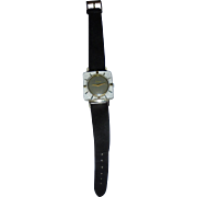 Mid Century Mod Sheffield Square Lucite Ladies Wrist Watch